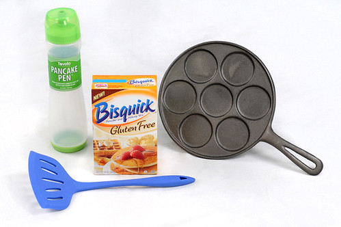 A Giveaway Package: Gluten Free Bisquick, pancake pen, spatula and cast-iron pancake pan
