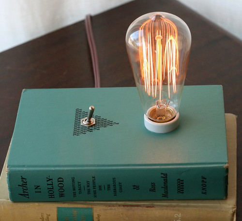 Hardback Book Lamp - Archer in Hollywood
