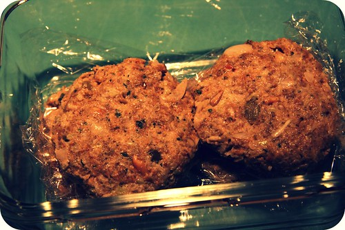 uncooked seed burgers