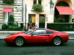 Ferrari 328 GTS (SamismagiC) Tags: red paris france car sport design italian sam ferrari spot 328 avenue luxury spotting montaigne gts pininfarina samismagic