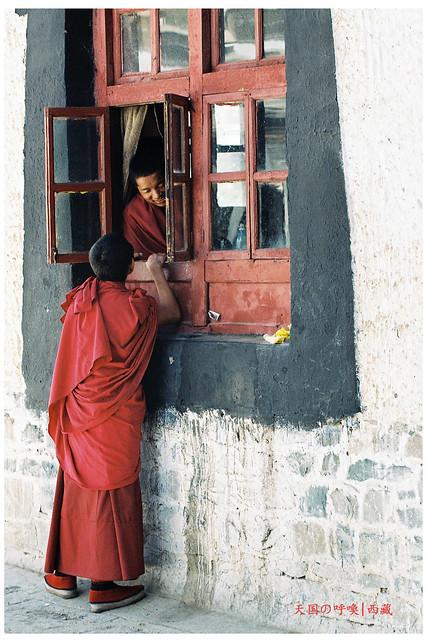 Monk in Tashilumpo Monastery 扎什伦布寺