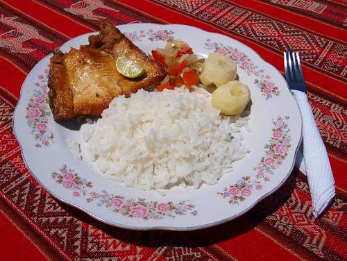 Bolivia: Trucha a la plancha en la Isla del Sol