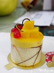 Mini Mango Cake. ( awkwardlyperfect) Tags: food cake dessert cherries sweet chocolate mini mango mousse spongecake mangocake