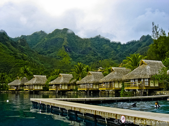 Luxury bungalows in French Polynesia