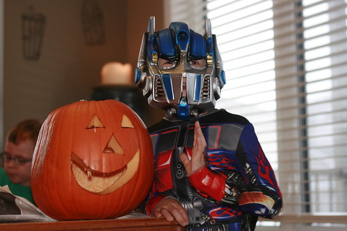 Optimus does Jack o Latern