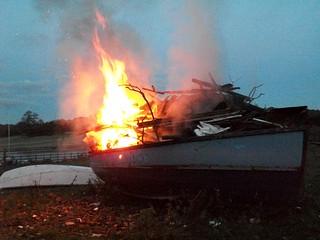 Boat bonfire
