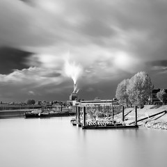 Rainy day (c e d e r) Tags: longexposure chimney sky holland industry netherlands foto rainyday smoke nederland ceder ndfilter nd110 flickriver cederfoto 10stopgreyfilter