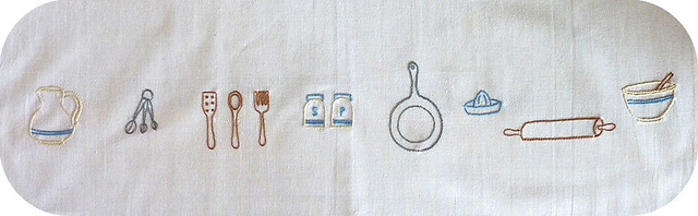 tea towel embroidery
