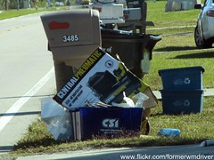 Con-Serv Industries Recycling Bin in North Port, Florida (FormerWMDriver) Tags: trash garbage can bin collection container rubbish waste cart refuse recycle recycling sanitation