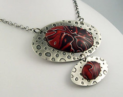 Polymer Necklace (metalartiste) Tags: necklace polymerclay naftali sterlingsilver