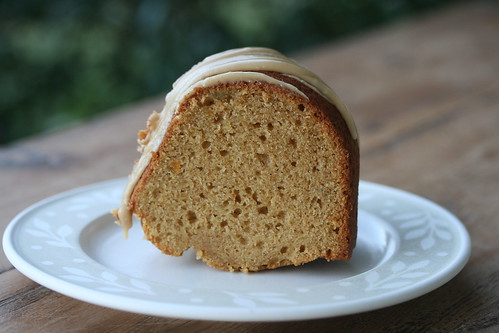 Spiced Sweet Potato Bundt with Brown Sugar Icing - I Like Big Bundts