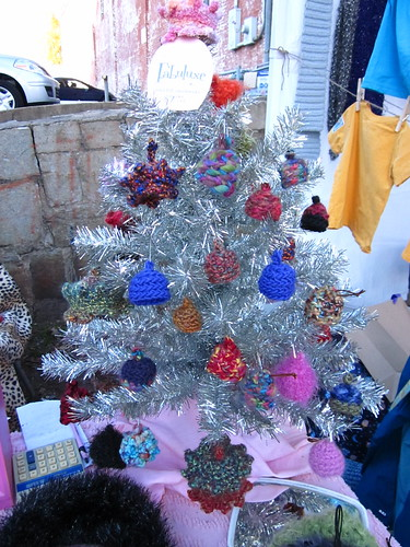 Camille's miniature knit hat ornaments!