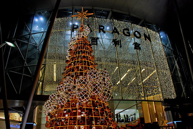Christmas tree at Paragon Shopping Centre, Singapore