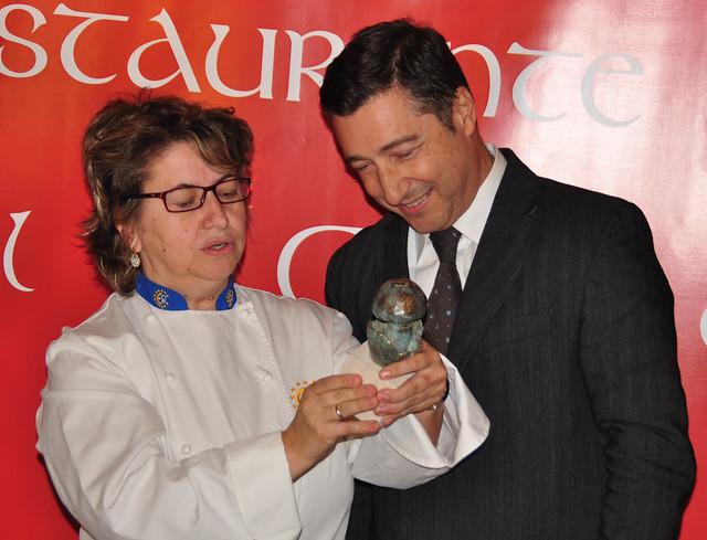Fátima Pérez con Joan Roca