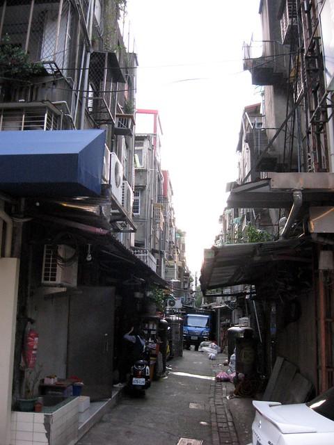 路地裏, 台北市内