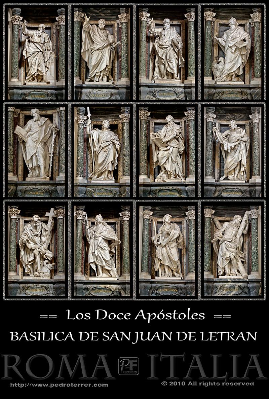 Roma - Archibasílica de San Juan de Letrán - Los Doce Apóstoles
