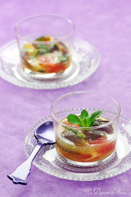 Perfumed citrus fruit salad