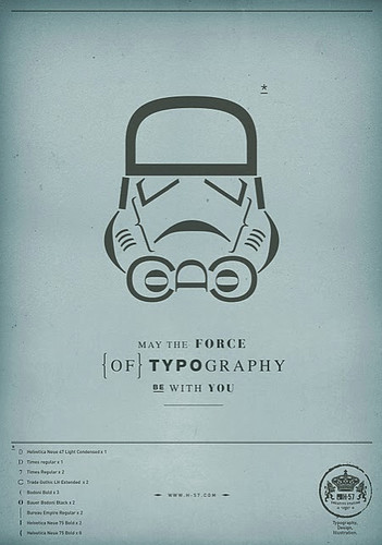 Star Wars Type Poster