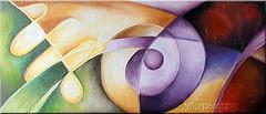Un cuadro a pedido (vanegazze) Tags: arte colores abstracto espiral obra rectangular cuadro colorido
