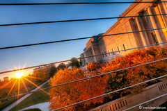 Nelson Atkins Museum in Kansas City (ericbowers) Tags: trees sunset sky fall foliage kansascity missouri sunrays nelsonatkinsmuseumofart rockhill southmoreland ericbowers