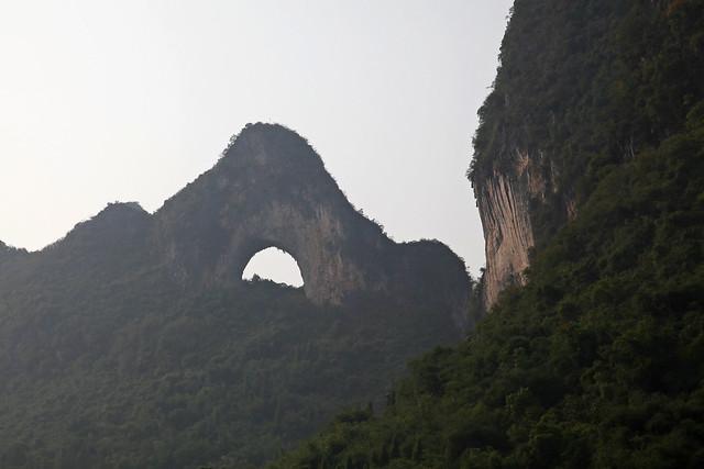 """Famous """"Moon Hill"""" near Yangshuo, Guangxi, China"""
