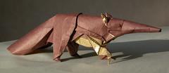 giant anteater (nyanko sensei) Tags: animal giant origami quentin anteater trollip afrcan