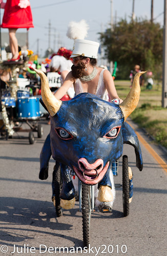 bull bike in parade