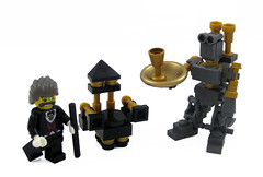 Auto-Butler (Hound Knight) Tags: auto robot chair lego mechanical butler minifig custom monocle automaton steampunk