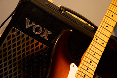 Day 323 (Xelcise) Tags: closeup guitar amp fender 50s vox amplifier stratocaster amplified reissue d90 vt30 afsdxvrzoomnikkor18105mmf3556ged