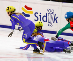 Crash Anke Regio shorttrack