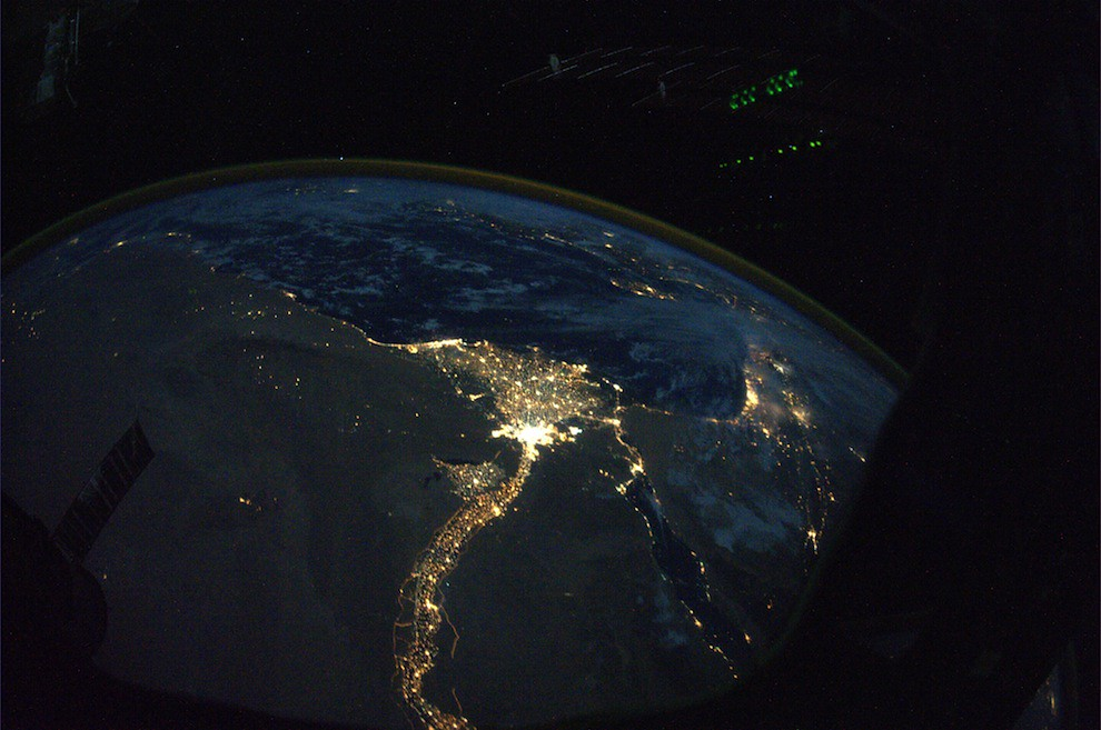 Incredible Photos from Space: The Nile and Egypt by night