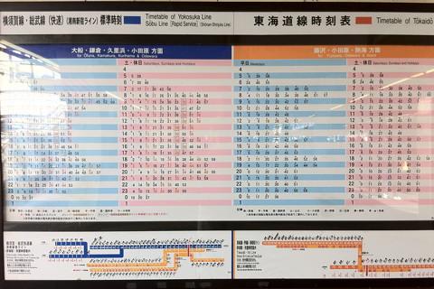 戸塚駅の東海道線・横須賀線時刻表