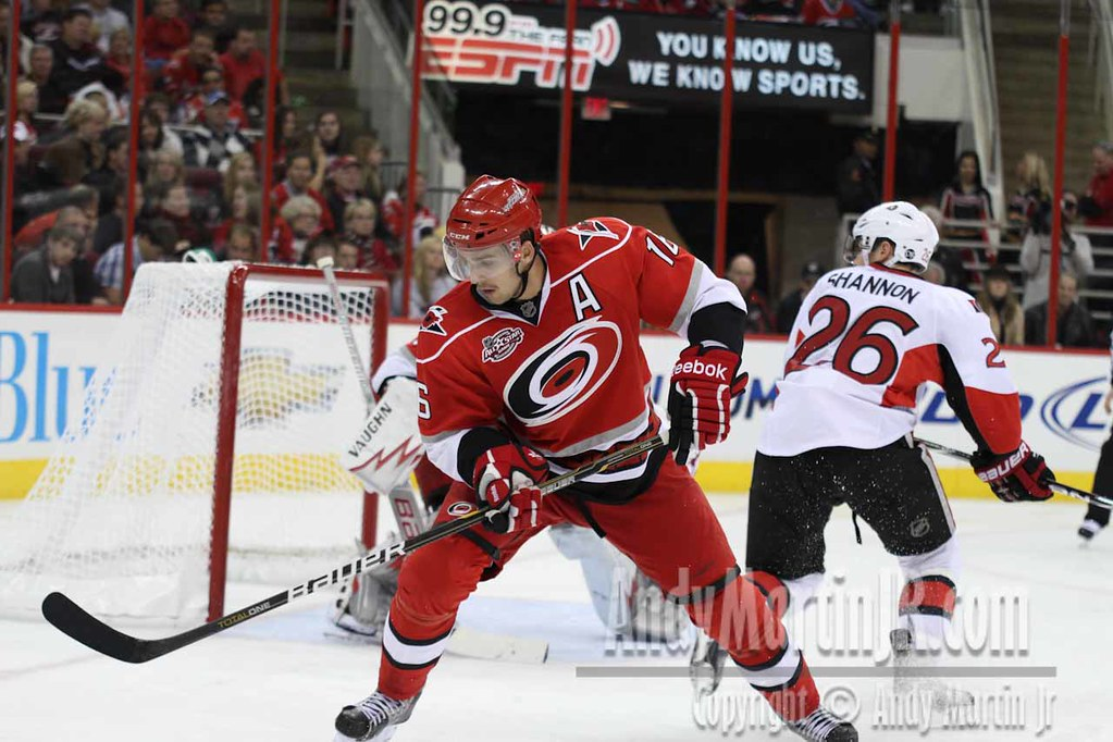 Alternative Captain of the Hurricanes, Brandon Sutter and Ryan Shannon of the Senators