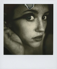 (maplesyruponly) Tags: selfportrait polaroid eyes mascara silvershade wordstoshootby px600ff