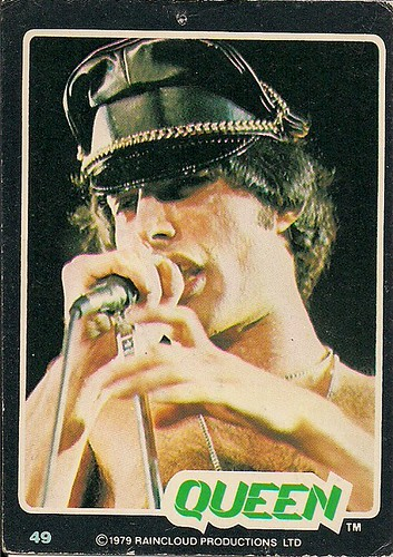 1979 Queen Collectors Card (Freddie Mercury)