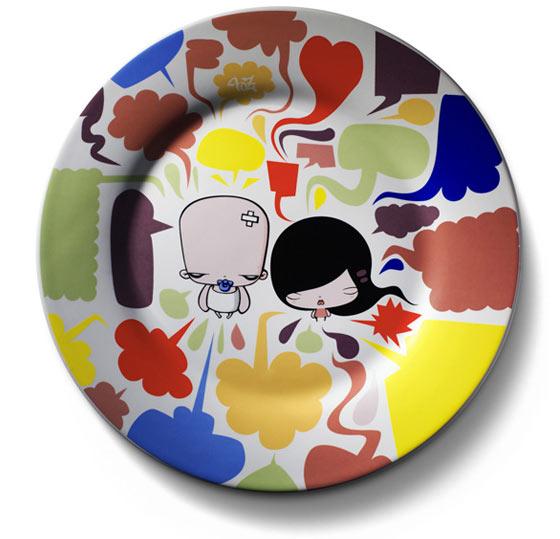 platos con dibujos infantiles