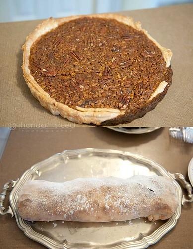 Pecan Pie & a Cherry Cheese Strudel