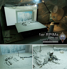 1er RPIMa snow diorama backstage (Shobrick) Tags: snow set cat french lego military camo tiny sniper op ba tt minifig minifigs custom backstage spec diorama 1er moc tactical brickarms rpima shobrick scidan