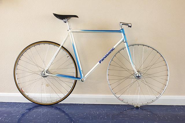 For Sale: 2 X Panasonic NJS Keirin Framesets, Blue and White | LFGSS