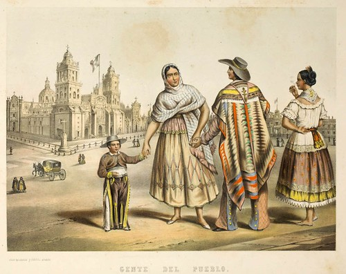 011-Gente del pueblo- Album Pintoresco de la Republica Mexicana 1850