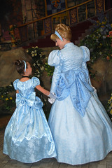 Cinderella Bows (Angelasews) Tags: dress princess handmade disneyland disney cinderella princessfantasyfaire