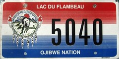 Lac Du Flambeau Ojibwe Nation (Traded) (Suko's License Plates) Tags: plaque native indian nation band plate tribal licenseplate license tribe placa patente targa matricula kennzeichen lacduflambeau ojibwe targhe numbertag nummerschild plaqueimmatriculation triballicenseplates indiantribeslicenseplates lacduflambeauojibwe