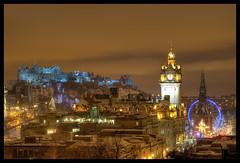 Edinburgh (Ian Foote) Tags: uk winter snow cold castle scotland edinburgh cityscape princesstreet bigwheel balmoralhotel citycentre caltonhill winterwonderland scottmonument helterskelter 5photosaday explored explorefrontpage