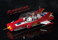 SUPERCAR! by V&A Steamworks (V&A Steamworks) Tags: red ford fire 1930s lego chief anderson va thunderbirds steamworks supercar gerry steampunk moc