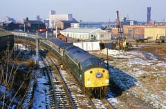 Green Goddess (Feversham Media) Tags: birkenhead merseyside britishrailways railtours birkenheaddocks class40 englishelectrictype4