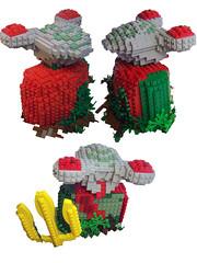 Statue of Squidberty (Dave Shaddix) Tags: sculpture lego squidman planetofthesquid