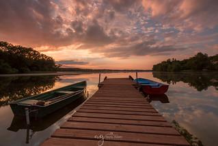 sunset at the Masurian lakes