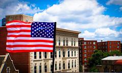 2017.07.02 Rainbow and US Flags Flying Washington, DC USA 7200