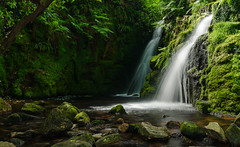 Venford Falls Revisited ... (Go placidly amidst the noise and haste...) Tags: venfordfalls venford dartmoor devon nationalpark southwest westcountry waterfall water blurred longexposure twin two waterfalls fern bracken