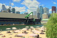 HMCS Toronto Tour (Redpath Waterfront Festival) (wyliepoon) Tags: downtown toronto hmcs ship halifax class frigate canadian forces royal navy redpath waterfront festival 2017 canada day 150 canada150 harbourfront harbour sugar beach east bayfront skyline skyscrapers cn tower